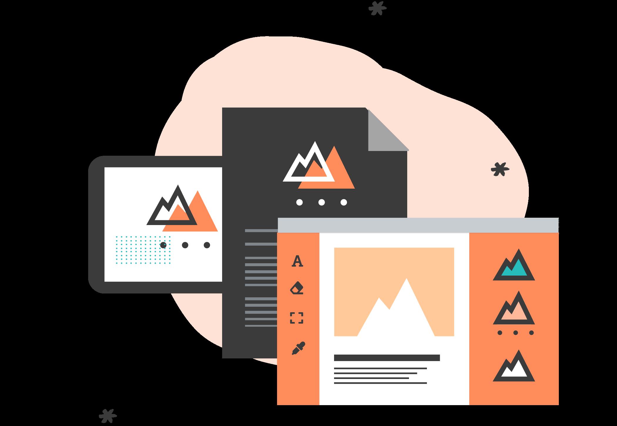 Visual Design Fundamentals and Tools Icon