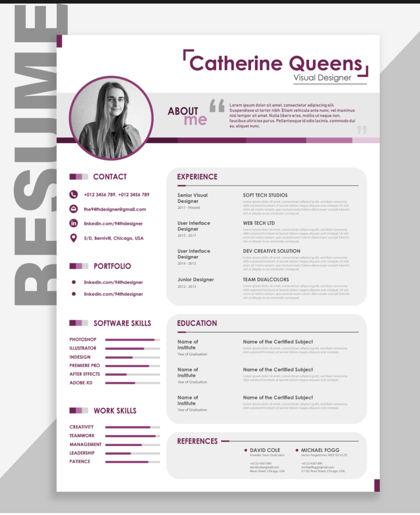 Curriculum Vitae Template Free Download South Africa Free Cv Templates Jobfishing Download Cv: Free Creative Resume Template Downloads For 2019
