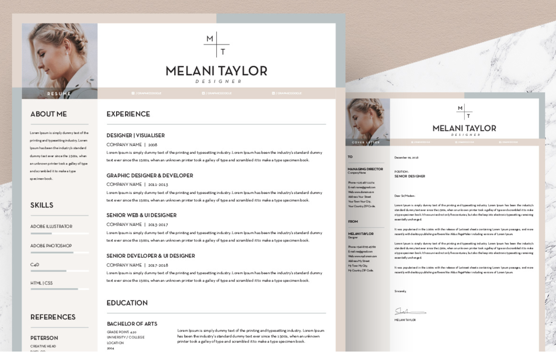 Resume Template Adobe Illustrator 22