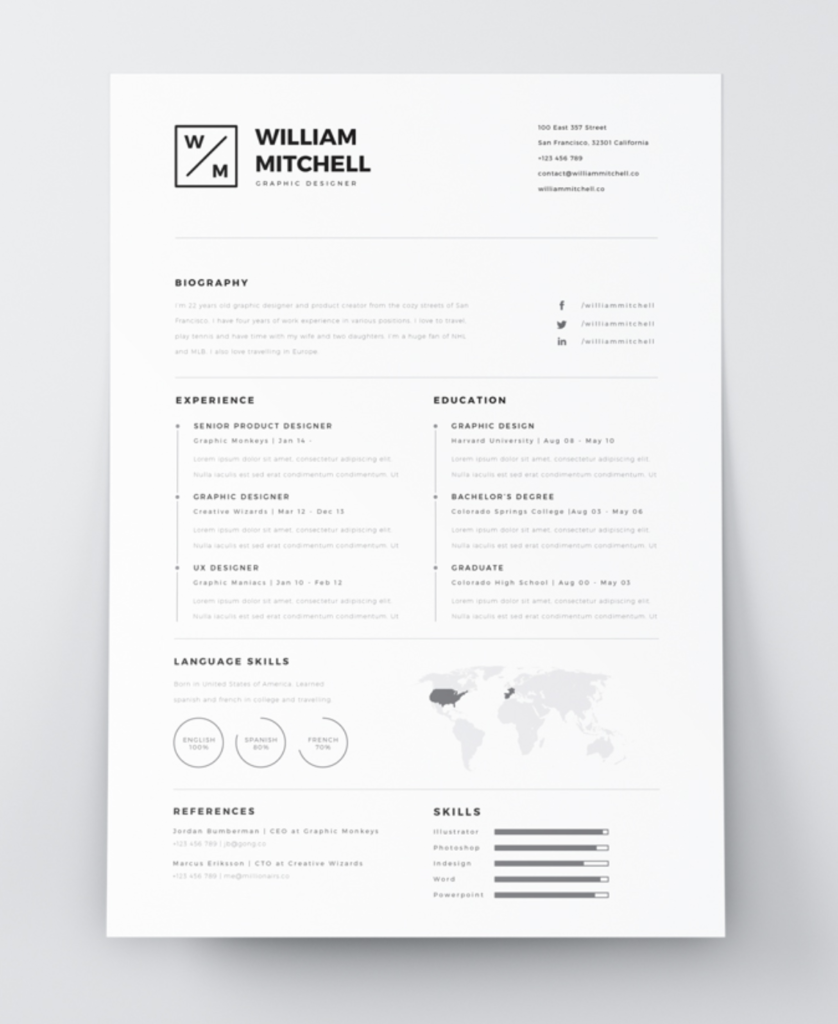 8 Creative And Appropriate Resume Templates For The Non: The Best Free Creative Resume Templates Of 2019