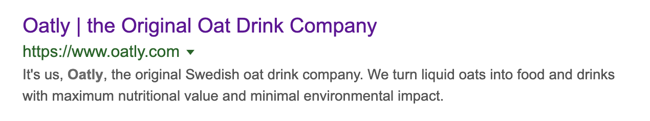 Oatly's site description is also brilliant microcopy
