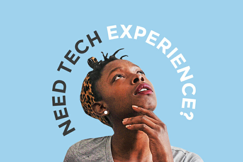 how to get experience in tech