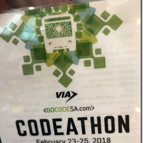 how to get experience in tech, conference badge, codeathon badge