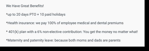 front end developer job posting compensation