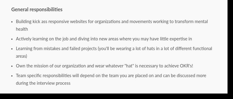 front end developer job postings