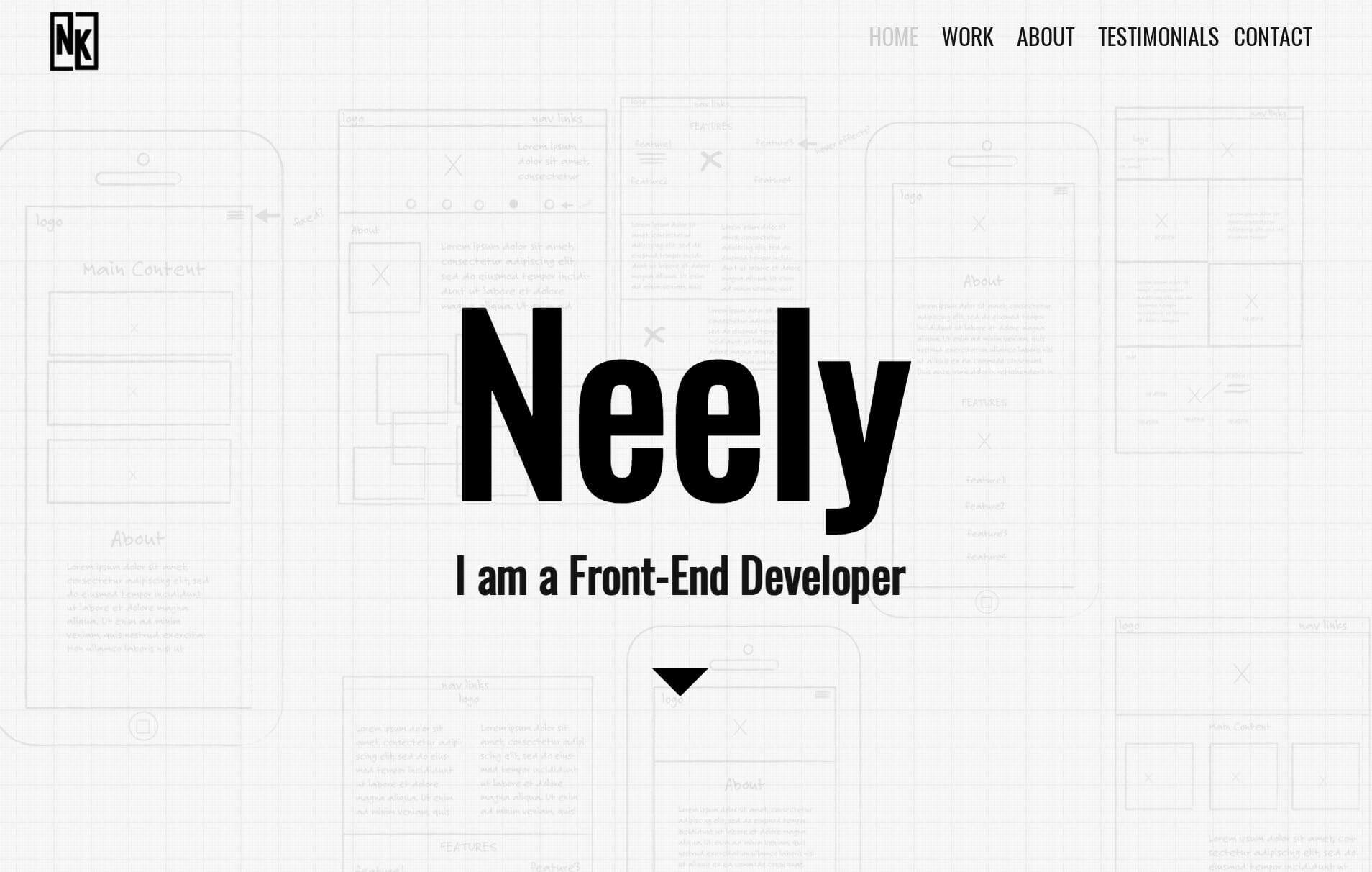Neely's landing page