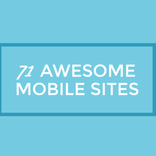 71 Sites with the Best Mobile Design