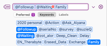 Delete Keywords