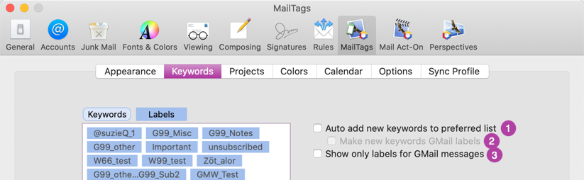 Gmail Preferences