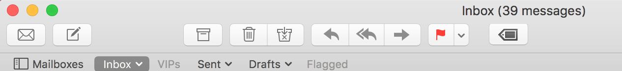 Tag icon added to the Main Mail Window toolbar