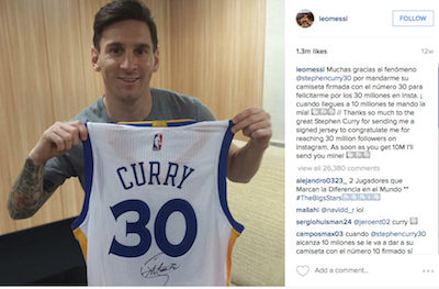 release date 91d36 6e9a6 Curry's Golden State Warriors evoke the joy of Messi's ...