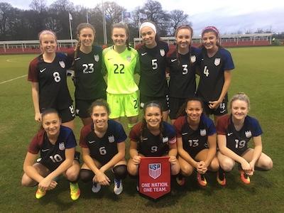 64a355f0fe8 ... in last Sunday s U.S. U-18 girls national team s 3-1 win over England