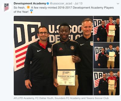 d3d6d3fac Development Academy Awards  FC Dallas and Weston FC coaches repeat ...