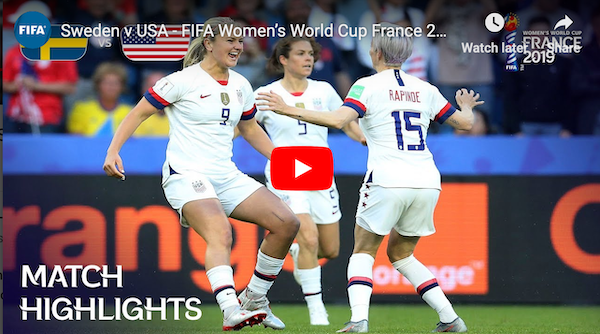 USA-Sweden: Women's World Cup Player Ratings 06/20/2019