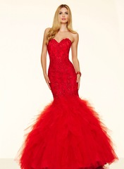 Beaded Lace on Tulle Dress