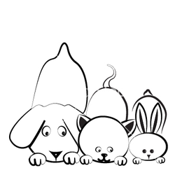 Dog cat and rabbit logo vector 1221342