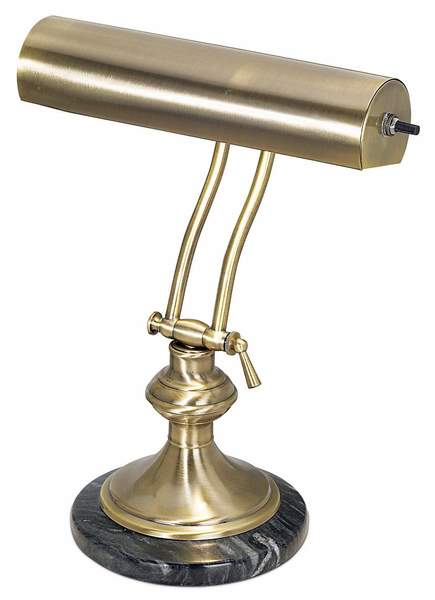 Antique Brass With Marble Piano Desk Lamp