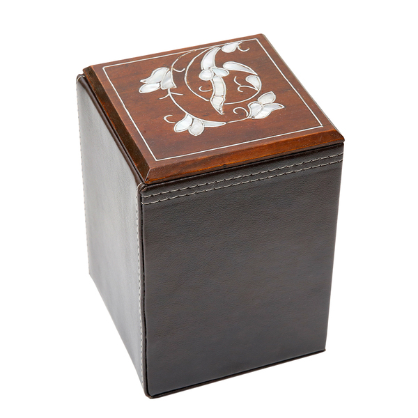 Leather and Pearl Box (Large)