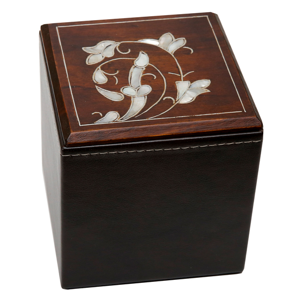 Leather and Pearl Box (Small)