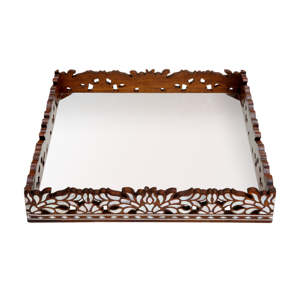 Square Carved Tray