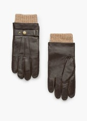 Tab Leather Gloves