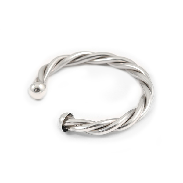 Item sold out                                                                                           Sterling Silver Twisted Braided Cuff Bracelet