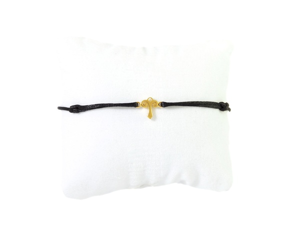 Aries zodiac 18Kt  yellow gold silk bracelet