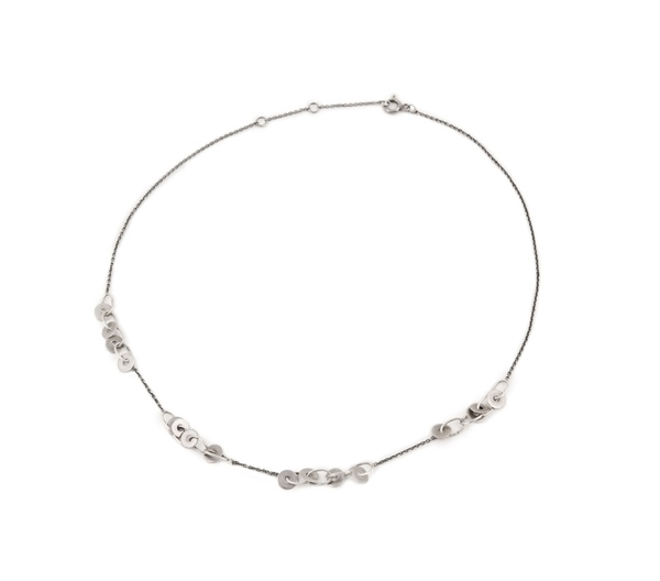 Mini coins sterling silver choker
