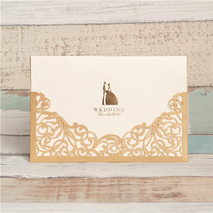 Modern Elegant Metallic Brown Unique Wedding Invitation Cards WPL0007