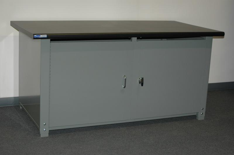 Stackbin Workbenches 72 X 30 Cabinet Workbench With Swinging Doors