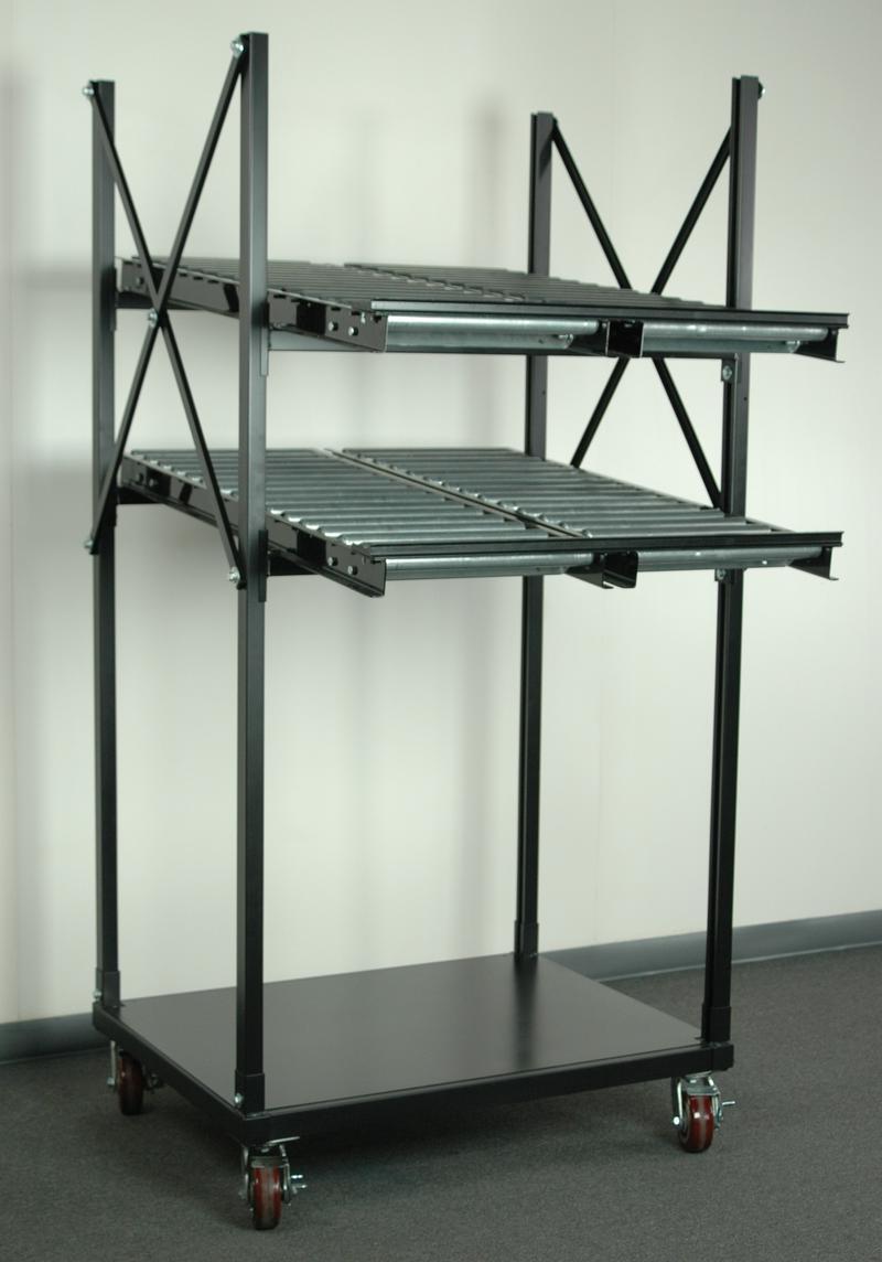 Stackbin Flow Racks 2 Level Flow Rack With Conveyor