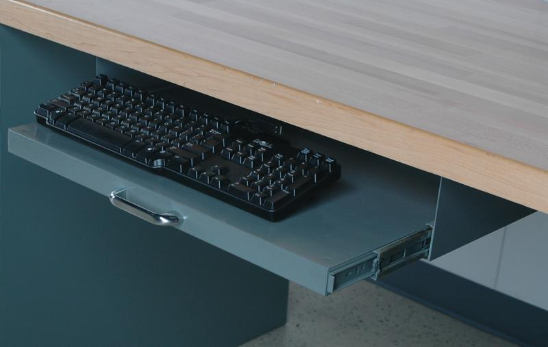 Stackbin Workbenches Extra Wide Pull Out Keyboard Tray