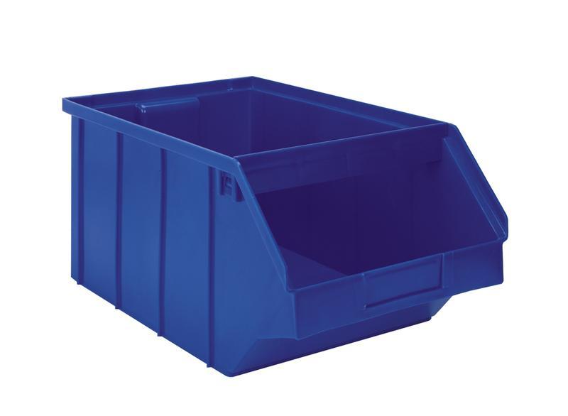 Stackbin -- Carts -- Sloped Steel Shelf Cart w/ Plastic Bins