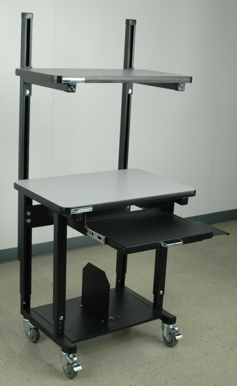 Stackbin -- Computer Stations -- Mobile Computer Desk W