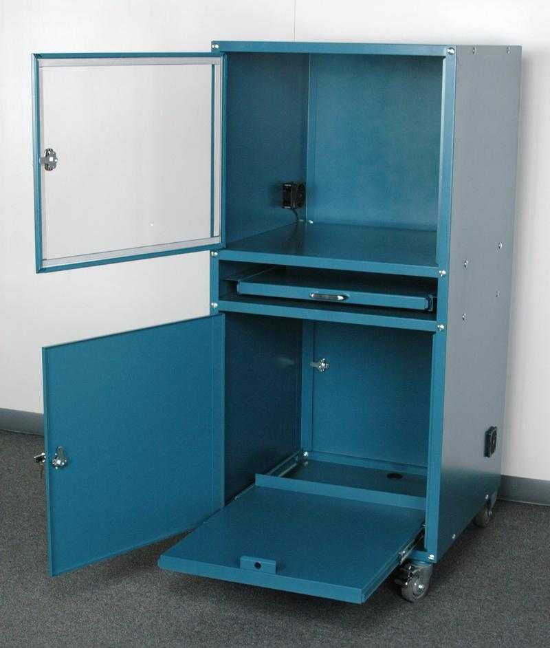 Stackbin Computer Stations Enclosed Computer Cabinet