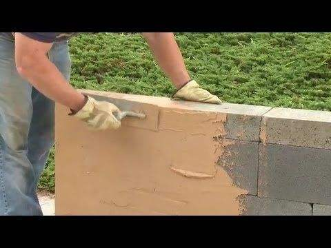How to cover your cinder block walls tenlist for Concrete block stucco