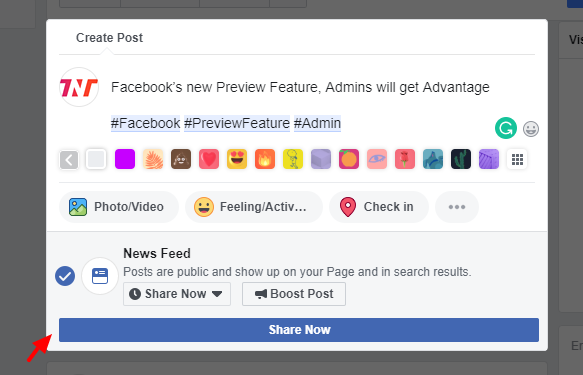 The Next Tech Posts - Facebook's new Preview Feature, Admins will get Advantage