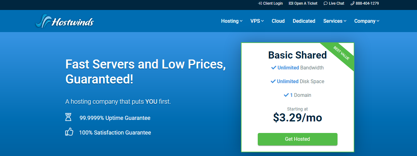 Hostwinds - Top 10 Web Hosting Companies in 2021 | Detailed Review