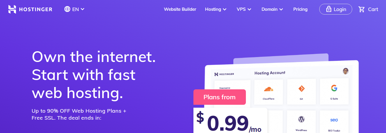 Hostinger - Top 10 Web Hosting Companies in 2021 | Detailed Review