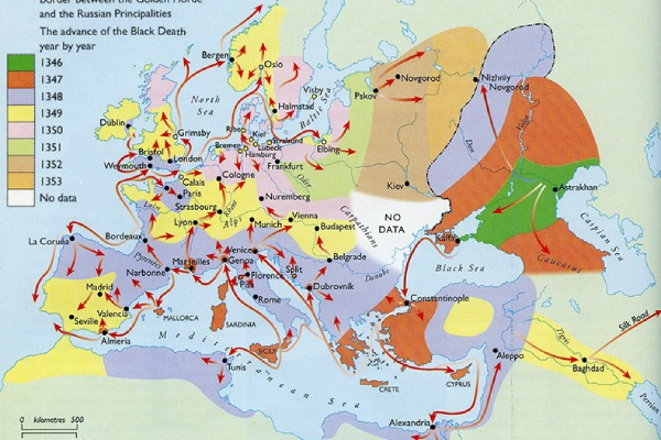 Map of black death - Black Death Facts, Symptoms and Treatment || Killed 75 Million People