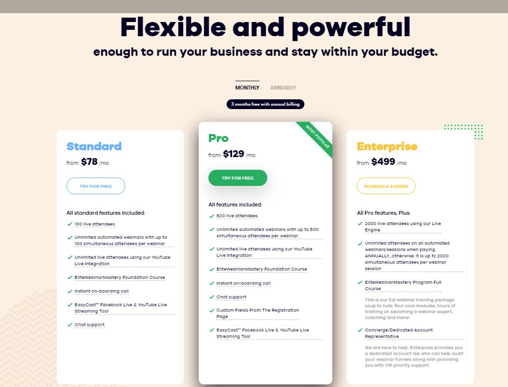 Pricing EasyWebinar - 14 Best Webinar Software Tools in 2021 (Ultimate Guide for Free)