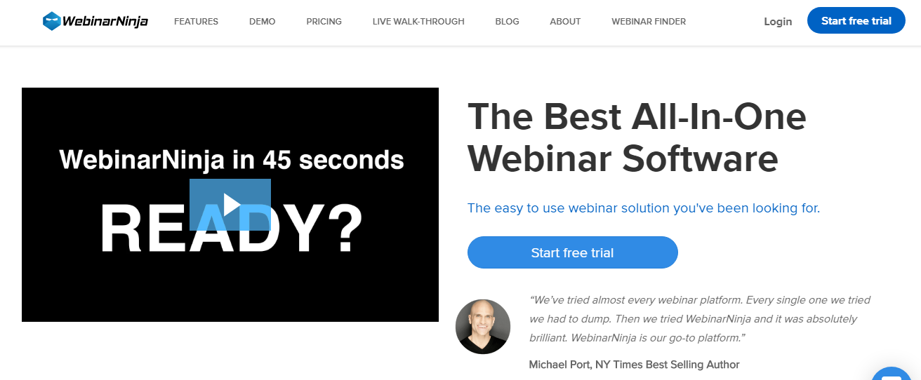 WebinarNinja - 14 Best Webinar Software Tools in 2021 (Ultimate Guide for Free)