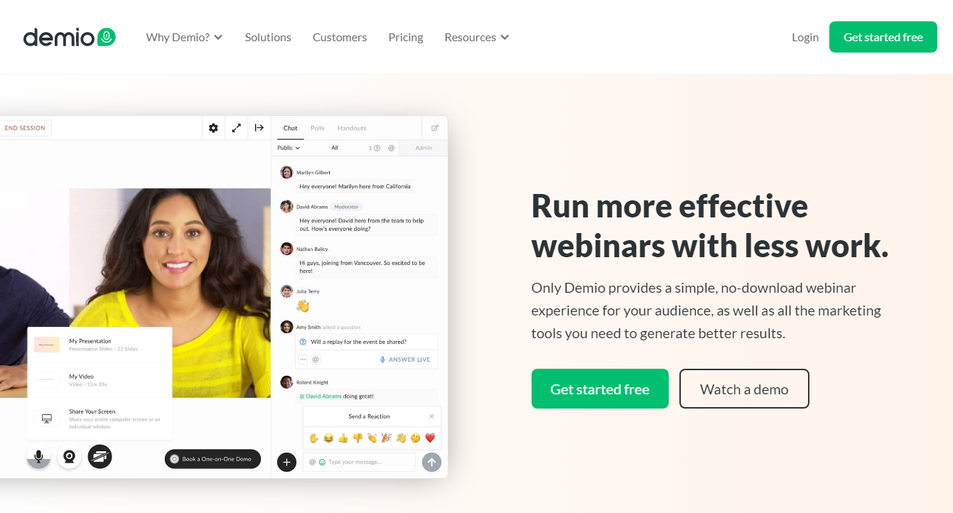 Demio - 14 Best Webinar Software Tools in 2021 (Ultimate Guide for Free)