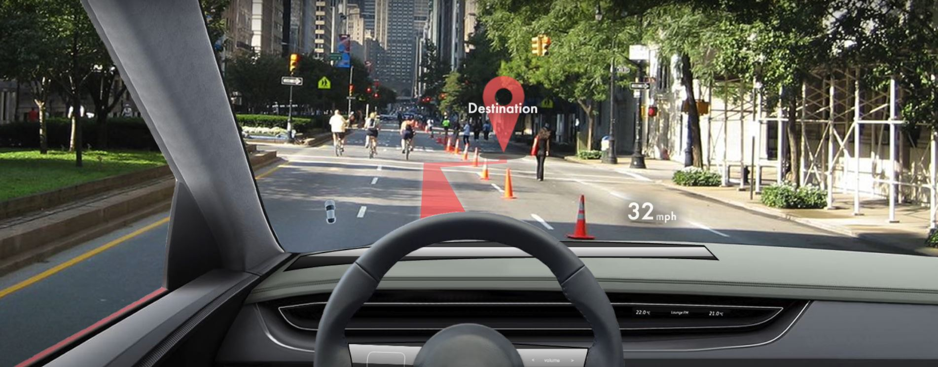 windshield hud - Heads Up Display (HUD): Drive Undistracted