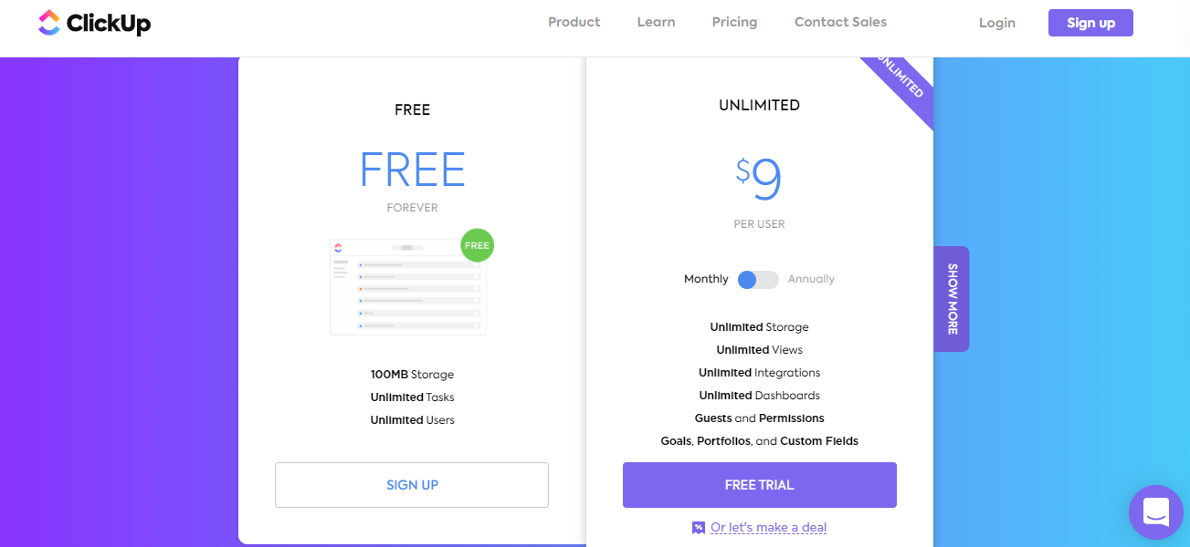 clickup - 10 Best Pricing Strategies for Your Saas Product