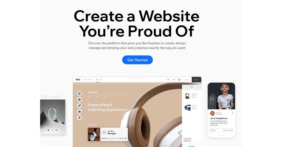 wix - Best ecommerce platform in 2021
