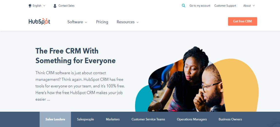 Hubspot 1 - Best CRM software for 2021