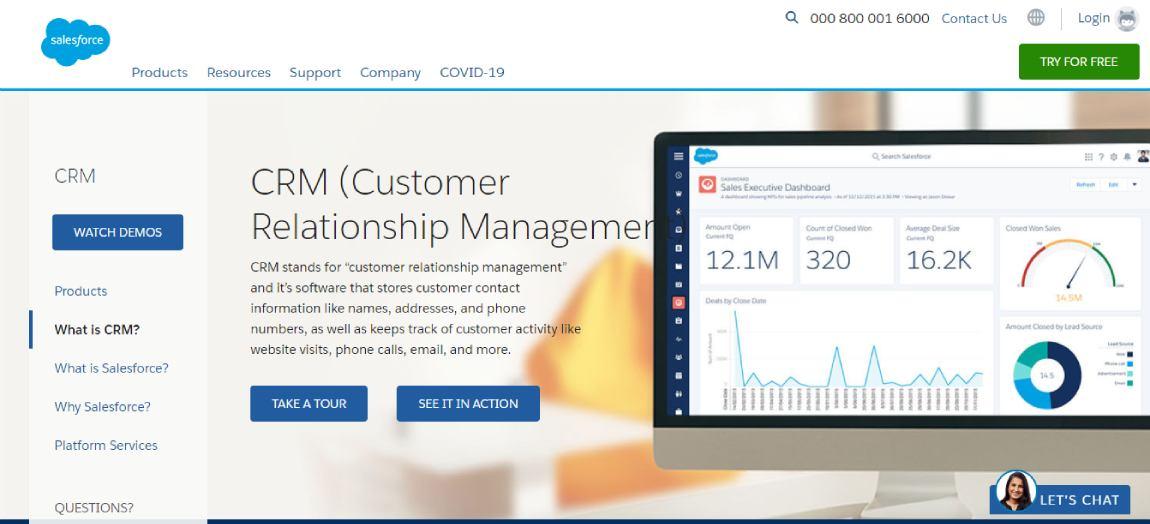 Salesforce - Best CRM software for 2021