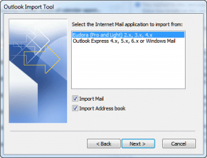 import eudora 300x229 - Three free methods to move MBOX data to Outlook PST format