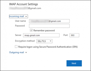 imap.gmail  300x233 - Three free methods to move MBOX data to Outlook PST format